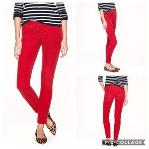 J. Crew Matchstick Red Corduroy Pants